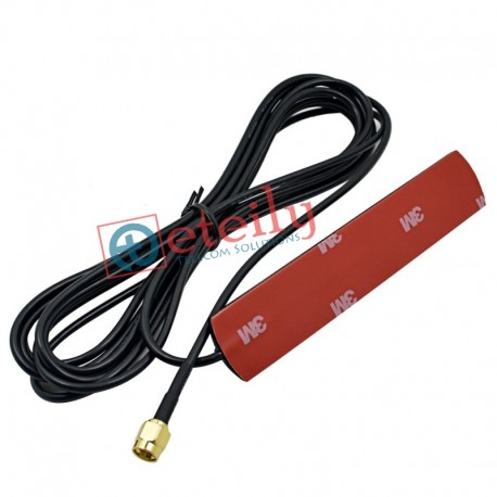 3G 3dBi Adhesive Antenna with RG174 Cable|SMA Male Connector ETEILY