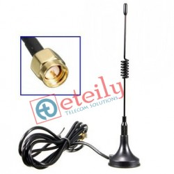 3G 3dBi Spring Magnetic Antenna with SMA Male Connector ETEILY