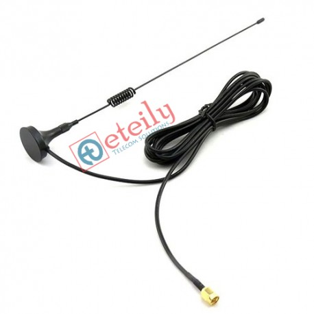 3G 6dBi Spring Magnetic Antenna with RG 174 Cable| SMA Male Connector ETEILY