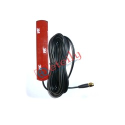 3G 3dBi Adhesive Antenna with RG 174 Cable | SMA Male Connector