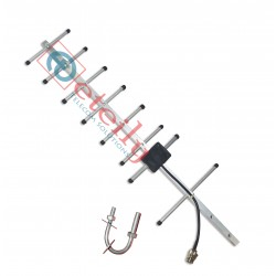 4G 12dBi Yagi Antenna with RG 58 Cable | N Female Connector ETEILY