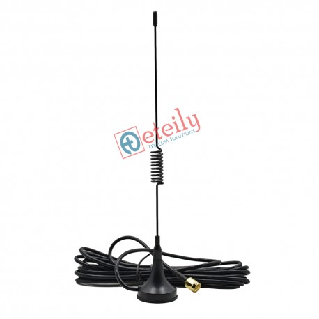 4G 5dBi Spring Magnetic Antenna RG174 Cable | SMA Male Connector ETEILY