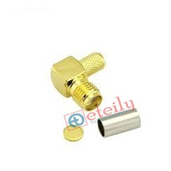 SMA Female Right Angle Connector for RG58 Cable