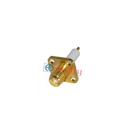 SMA FEMALE 4 HOLE PANEL MOUNT 12mm TEFLON