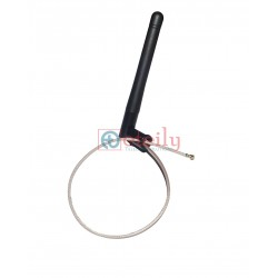 2.4GHZ 3DBI RUBBER DUCK ANTENNA Rg178 L225MM+UFL