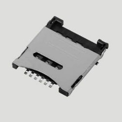 Micro SIM Card Connector 6 Pin Pedal Lift Type