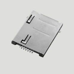 SIM Card Connector 6P Push Type Metal Body