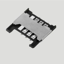 SIM Card Connector 6P Slide Type