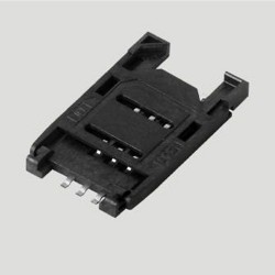 SIM Card Connector 6P Pedal Lift Type