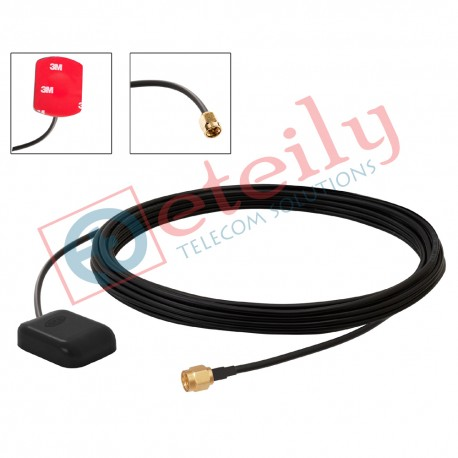 GPS sticker antenna with 3 mtr cable + sma (M) St