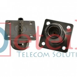 N (F) 4-hole Panel Mount Connector for RG174 Cable - Eteily Technology