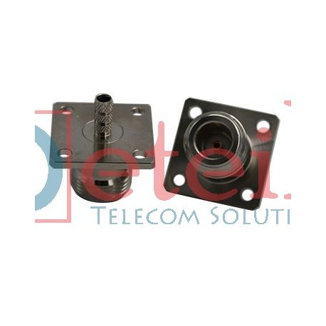 N Female 4-hole Flange Mount For RG 174 RF Coaxial Connector