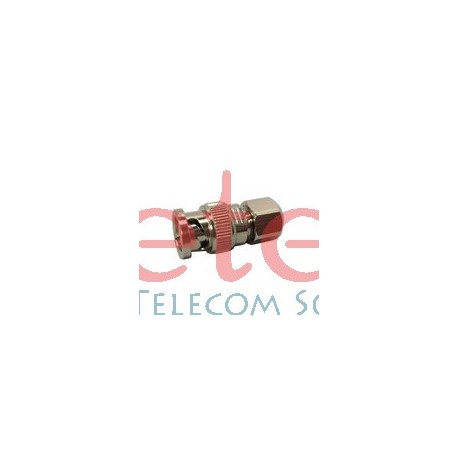 BNC Type Male RF Coaxial Connector for RG58 Cable Clamp