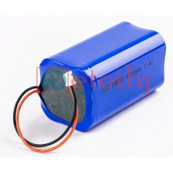 Li-Ion Battery Pack 7.4 V 2S2P 4000/4400/5200/5200 mAh