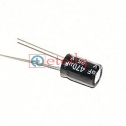 CAPACITOR 47μF 25V RADIAL
