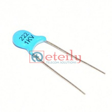 High voltage ceramic capacitor 1KV 222M 2.2NF 1000V