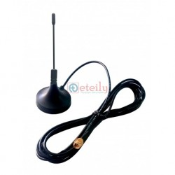 868 MHz/LoRa 3dBi Omni Magnetic Antenna with SMA (M) St Connector | RG 174 3m Cable ETEILY