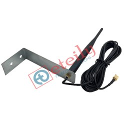 868 MHz/LoRa 5dBi Rubber Type Screw Mount Antenna with RG174 Cable | SMA Male Connector