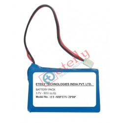3.7V 800mAh Lithium Ion Prismatic Battery Pack with 2pin connector ETEILY