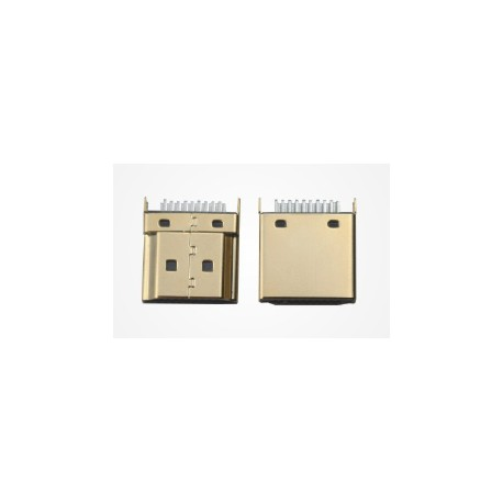 HDMI A type plug for PCB 1.2mm male and female connector