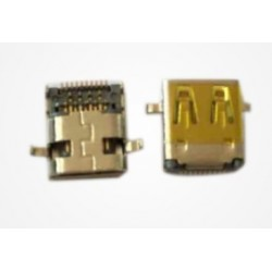 HDMI D Type Female Plug Connector Receptacle Sinking 0.90 TYPE Shell DIP Supplier