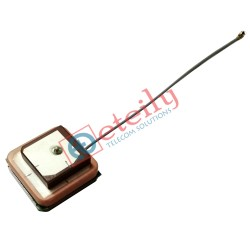 GPS / IRNSS Active Stacked Patch 25x25 Antenna with 1.13mm Cable | UFL Connector