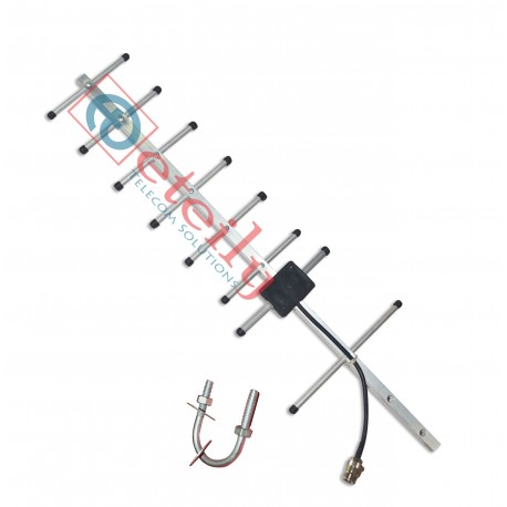 GSM 10dBi Yagi Antenna with RG 58 Cable | N Female Connector ETEILY