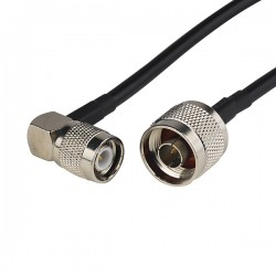 N Male To TNC Male Right Angle RG 58 Cable