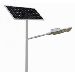 12W Solar Street Light 75W Solar Panel with LifePO4 Battery Pack