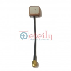 GPS Active Patch 15x15 Antenna with RG174 Cable | SMA Male Connector