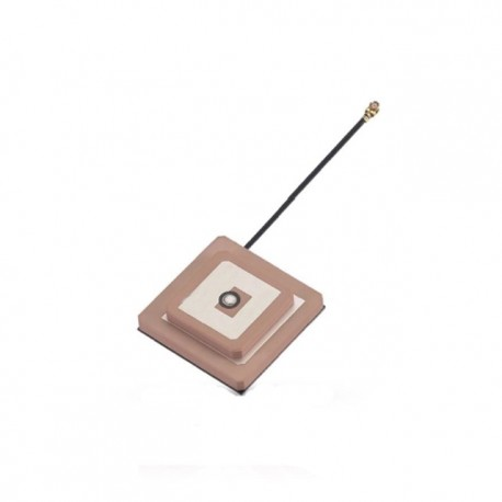 GPS / IRNSS Active Stacked Patch Antenna with 1.13mm Cable | U.FL Connector ETEILY