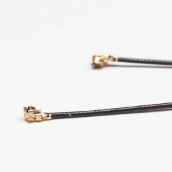 UFL R/A to UFL R/A with 0.81mm OD Coaxial Cable