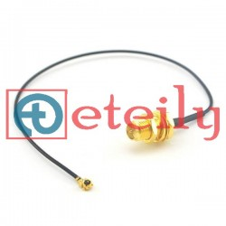 SMA(F) Bulkhead with 1.13mm Coaxial Cable | U.FL