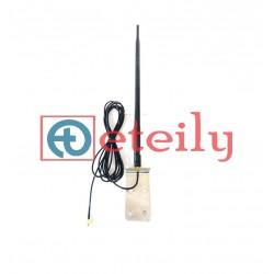 433 MHz 12dBi Rubber Duck Antenna with RG 58 Cable | SMA Male Connector (with L Bracket) ETEILY