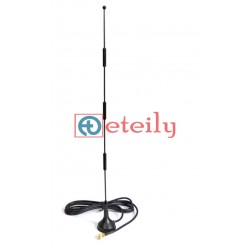 4G 15dBi Spring Magnetic Antenna with RG 174 Cable   SMA Male Connector
