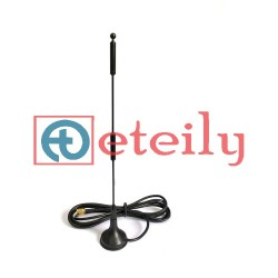 Wi-Fi 10dBi External Spring Magnetic Antenna with RG 174 Cable | SMA Male Connector ETEILY