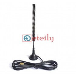 VHF MHz 5dBi Spring Magnetic  Antenna with SMA Male Connector ETEILY