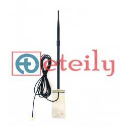 3G 12dBi Rubber Duck Antenna with RG 58 Cable | SMA Male Connector (with L Bracket) ETEILY