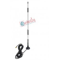 865MHz/Helium Frequency 9dBi Spring Magnetic Antenna with RG174 Cable | SMA Male Connector - ETEILY TECHNOLOGIES