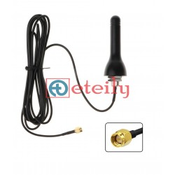 433 MHz 4dBi Screw Mount Rubber Duck Type Antenna with RG 174 Cable | SMA Male Connector