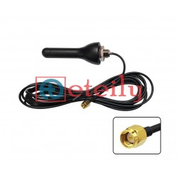 2G / 3G / 4G 4dBi Screw Mount Rubber Duck Type Antenna with RG 174 Cable | SMA Male Connector