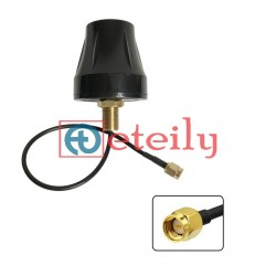 GPS Active Screw Mount Antenna Cup Shape with RG174 Cable | SMA Male St. Connector