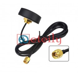 GPS Screw Mount Puck Antenna Adhesive Type with RG174 Cable | SMA Male St. Connector