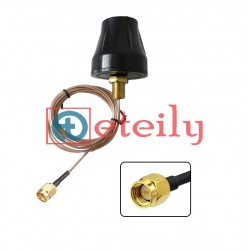 433MHz 4dBi Screwable Puck Antenna with RG174 Cable   SMA Male Connector - Eteily Technologies