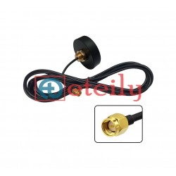 2.4 GHz/5.8 GHz 4dBi Screwable Puck Antenna with RG 174 Cable | SMA Male Connector