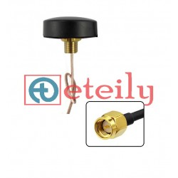 GPS Screw Mount Puck Antenna Adhesive Type with RG316 Cable | SMA Male St. Connector