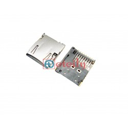 Micro SD Card Connector 8Pin Push-Push Type 1.68H - ETEILY TECHNOLOGIES