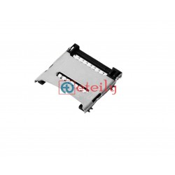 Micro SD Card Connector 8 Pin Flip Type Metal Body AT