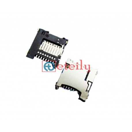 Micro SD Card Connector Push-Push Type 1.45H - ETEILY TECHNOLOGIES