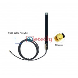 2.4GHz & 5.8GHz 25dBi Fiberglass Antenna with SMA Male Connector